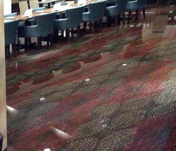Hotel Flooded Dining Room in Cutler Bay Before